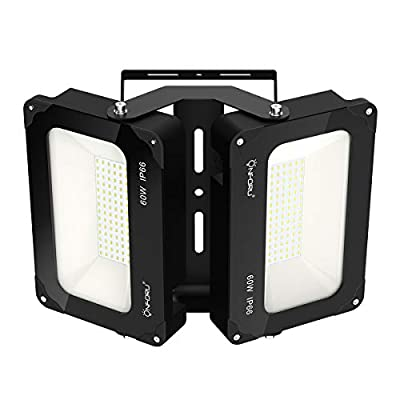 Onforu 120W LED Floodlight, 13000lm IP66 Waterproof Super Bright Security Lights, 5000K Daylight White Outdoor Flood Light for Yard, Garden, Playground, Basketball Court, Stadium, Park, Football Field