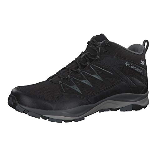 Columbia Men's WAYFINDER MID Outdry Hiking Shoe, Black, steam, 14 Regular US