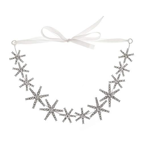 Lurrose Strass Étoiles Bandeau Cristal Mariée Casque Bandeau de Mariage Étoiles Cheveux Accessoires pour Filles Dames Femmes Argent