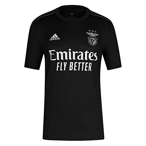 adidas T-Shirt 2. Team Sl Benfica 2020-21 Herren-T-Shirt S Schwarz/Silber