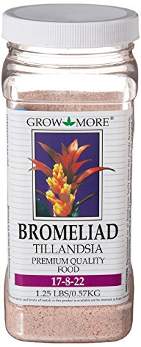 Grow More 5118 Bromeliad Tillandsia Food 17-8-22, 1.25- Pound