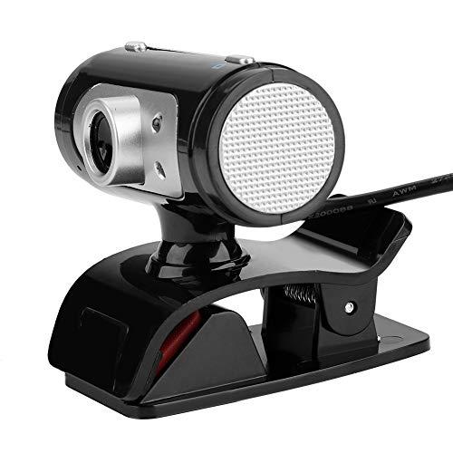 Jeankak PC Laptop Desktop HD Webcam, CáMara Web de Computadora USB con Luz LED de 360 ° con MicróFono Digital Incorporado CáMara de Video para Computadora Compatible con CáMara Web