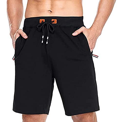 NXWL Bermudas Hombre Verano,Hombre Pantalones Cortos de Playa Beach Shorts,Negro,40