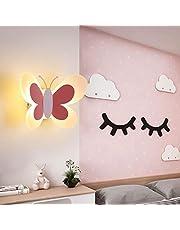 Kinderkamerwandlamp LED 14W, wandlamp modern creatief design nachtlamp warm wit voor slaapkamer hal trap binnenverlichting (roze, zonder schakelaar)