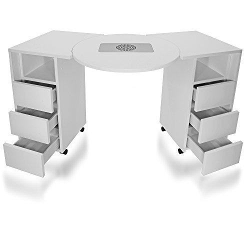 Manikürtisch, Nageltisch, Studiotisch mit Absaugung SA-30, Modell DR-04