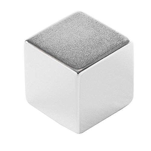 """Eclipse Magnetics N420 Neodymium Rare Earth Block Magnet, Nickel Plated, 1"""" Length x 1"""" Width x 1"""" Thickness"""