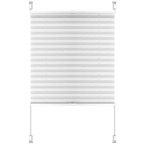 S SIENOC Plissee Klemmfix Fenster Plissee Rollo Sonnenschutz Ohne Bohren Rollo Fenster & Türen inkl. Zubehör (Weiß, 70x220 cm)