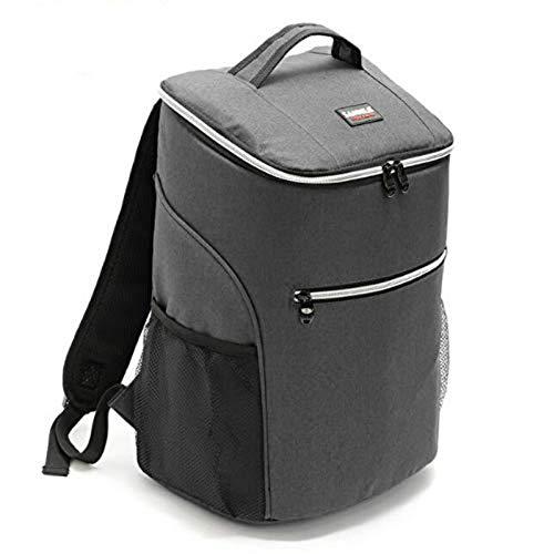 Marbeine Sac à Dos Isotherme 20L Glacière Sac de Repas Lunch Bag pour Travail Ecole Pique-Nique (Gris)