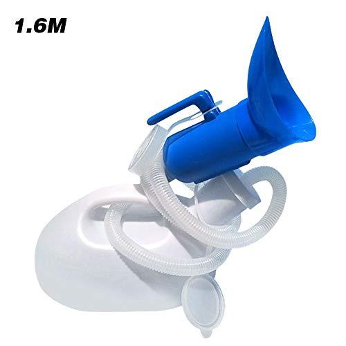 Urinalflasche Tragbares Urinal-Töpfchen mit Deckel und Verlängerungsrohr - Urinalkammertopf im Freien für Männer Frauen Camping Car Travel 2000 ml