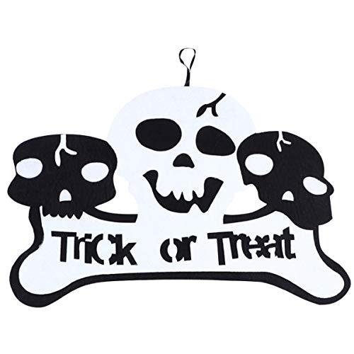 NICEXMAS Truque Ou Travessura de Halloween Sinal de Porta Cabide de Porta Decoração de Sinal para Casa Assombrada Escritório Em Casa Escola Decorações de Halloween