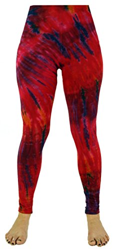 Guru-Shop Batik Leggings, Damen, Pink, Size:38, Shorts, 3/4 Hosen, Leggings Alternative Bekleidung