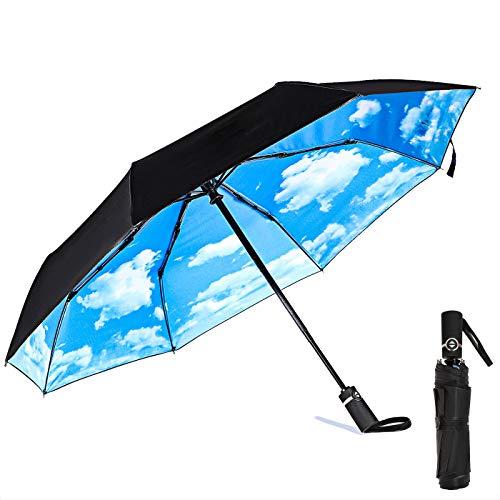 Travel Umbrella Windproof Compact Umbrella Automatic Open Close Lightweight Folding Umbrellas for Men Women