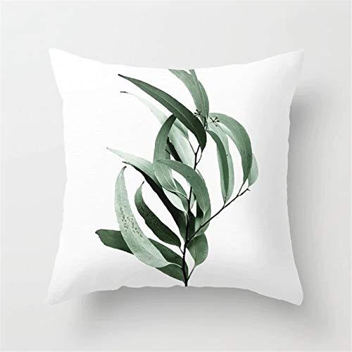 1 对 New Tropical Decoratie Kussenhoes Katoen Polyester Green Print Cactus Monstera Sierkussen for Sofa/auto 45 * 45cm kussensloop (Kleur : DRD9 2)