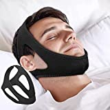 IBLUELOVER Anti Snoring Chin Strap,Stop Snore Chin Strap Snore Stopper,Professional Breathable Anti Snore Devices Adjustable Snoring Solution Belt Stop Snoring Aid for Men Women CPAP Users