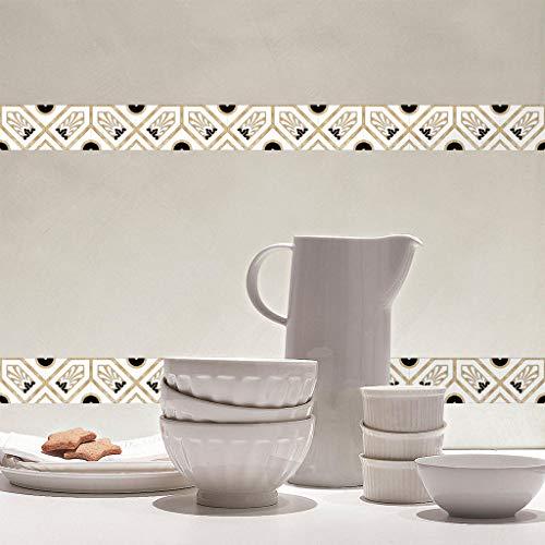 Marmo Adesivi 24 Pezzi di imitazione Cucina Bagno Adesivi per piastrelle autoadesivi Adesivi decorativi da parete 4 * 4,44,10 * 10cm