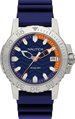 Nautica NAPKYW001 - Reloj Analógico para Hombre, de Cuarzo con Correa en Silicona, Azul