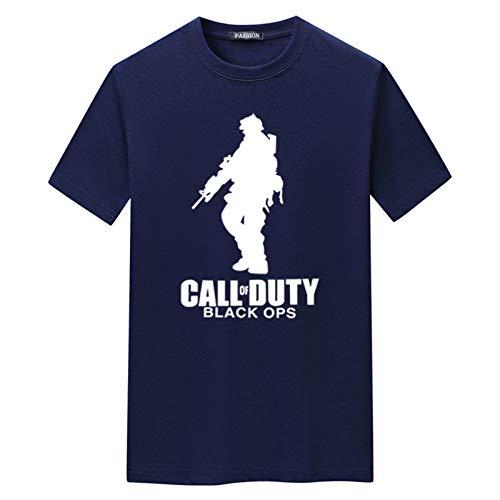 WENMW Camiseta personalizada para hombre y niños, diseño gráfico de verano de manga corta casual para niñas, camiseta unisex de manga corta personalizable, color azul marino, 5XL