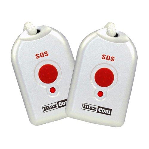 (Zusätzliche) Umhänge-Sender für Senioren-Notruf-Telefon MaxCom KXTSOS (2 Stück)