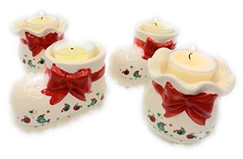 Gilde Adventskranz mit Deko Schnee und Teelicht Trend Design 9 tlg XXL Pack