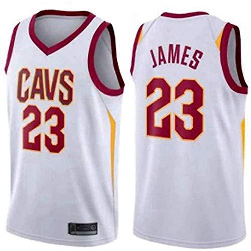 QQA NBA Classic Camiseta de Baloncesto # 23 Lebron James Cavs Clásico Sudadera Cool Mesh Camisetas y Tops para Fanáticos del Baloncesto