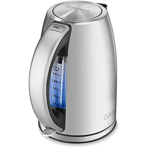Cuisinart CPK-17P1 PerfecTemp Cordless Electric Kettle Silver 1.7 Liter