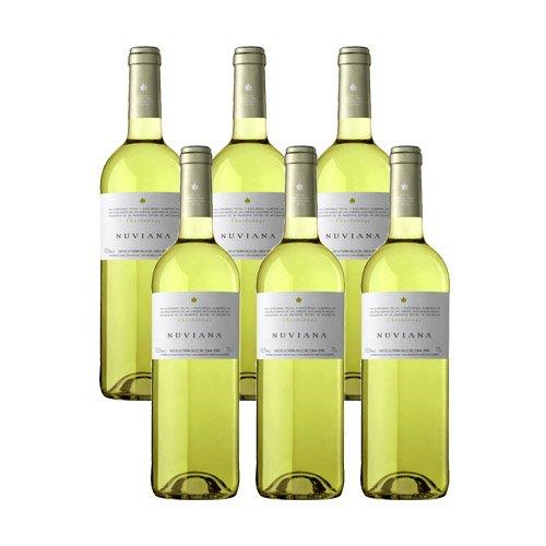 Nuviana Chardonnay 2017-Vino Blanco Valle del Cinca-6 botellas-0,75L