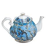 LIMX Tetera Hecha a Mano de 1000ml Tetera de China, Van Gogh Pintura de Pintura, Tetera de cerámica, Café Pot Regalos Familiares