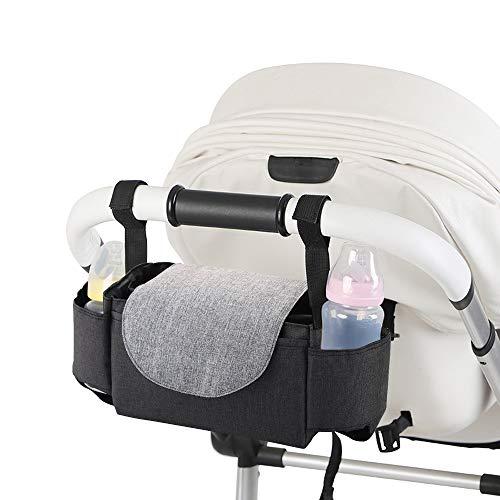 Decdeal Kinderwagen Organizer Buggy Tasche Baby Wickeltasche Aufbewahrungstasche mit Handgriff Wasserdicht