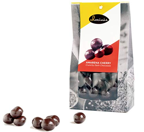 Duva Amarena Kers in Knapperige Pure Chocolade - Ontpitte Kers Omhuld door Belgische Fondant Chocolade 250g
