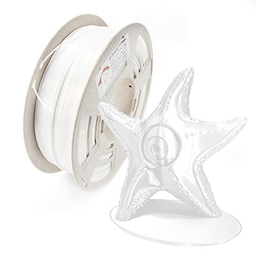 Reprapper Filamento Silk PLA 1.75 1kg para Impresión 3D, Seda PLA con Brillo Nacarado 1.75mm (± 0.03) para Impresora 3D, Blanco