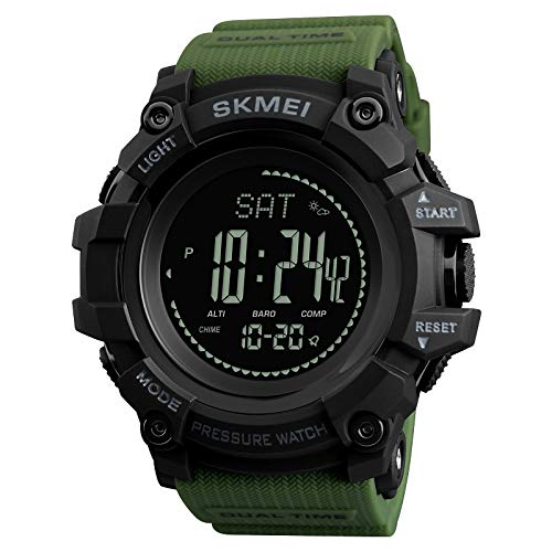 Nuovi orologi sportivi da uomo Marca Bussola a pressione Orologio sveglia Chrono Orologi da polso digitali 30 M Impermeabile Relogio Masculino