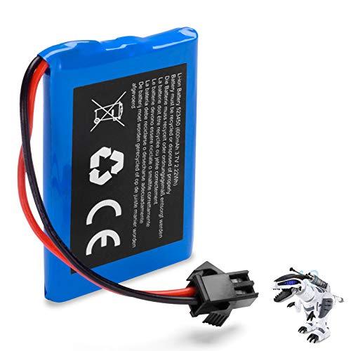 SGILE 3.7V 600mAh Lithium Battery for K9 Remote Control Dinosaur