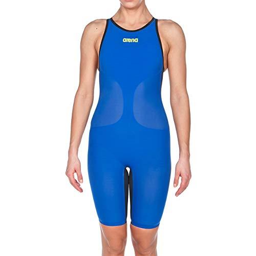 ARENA Damen Powerskin Carbon Air Swim Suit-Closed Back Badeanzug, Electric Blue/Titanium Blue, 60