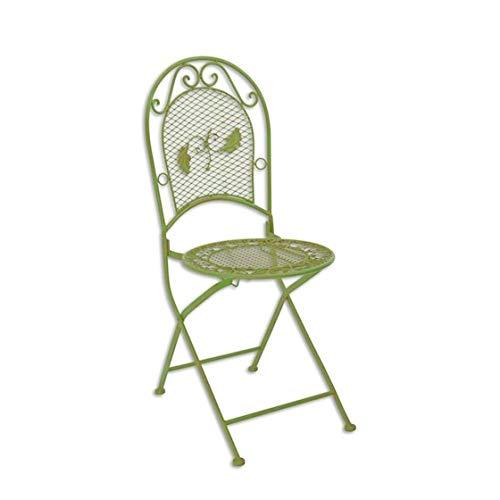 Gartenstuhl Klappstuhl Bistro Stuhl Metall grün klappbar 96cm Shabby Chic