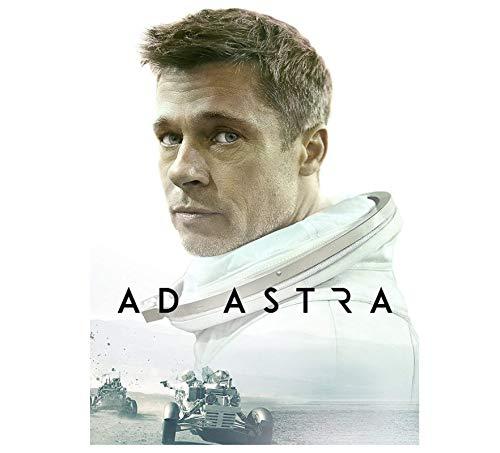 Brad Pitt Ad Astra Carteles e impresiones de películas de ciencia ficción Arte de la pared Cuadros en lienzo para la sala de estar Decoración del hogar Regalo -50x70cm Sin marco