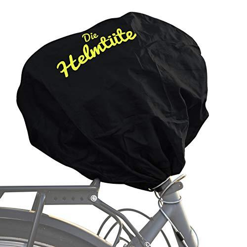Helmtüte - Schützt den Fahrradhelm vor Diebstahl & Regen | Helm auf den Sattel Legen - Tüte drüber & mit dem Rad abschließen | auch als Einkaufstasche nutzbar