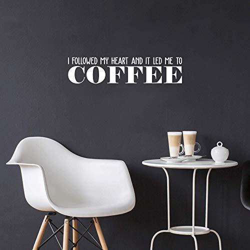 Printique Vinyl Wall Art Decal - Ik volgde mijn hart en het leidde me naar koffie - 6