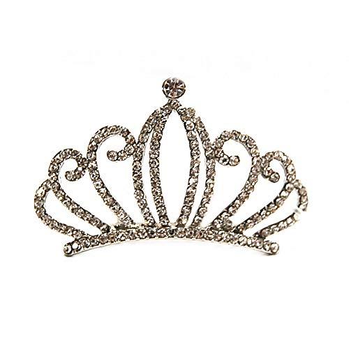 リタプロショップ? 子供用 ティアラ キラキラヘアコーム H473 カチューシャ 髪飾り プリンセス 衣装 結婚式 舞台 ドレス (シルバー)