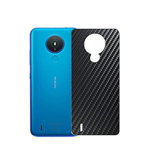 VacFun 2 Piezas Protector de pantalla Posterior, compatible con Nokia 1.4, Película de Trasera de Fibra de carbono negra