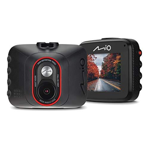 Mio MiVue C312 Dash Cam - Registratore personale per la guida, Full HD 1080p, grandangolo 130°, obiettivo F2.2