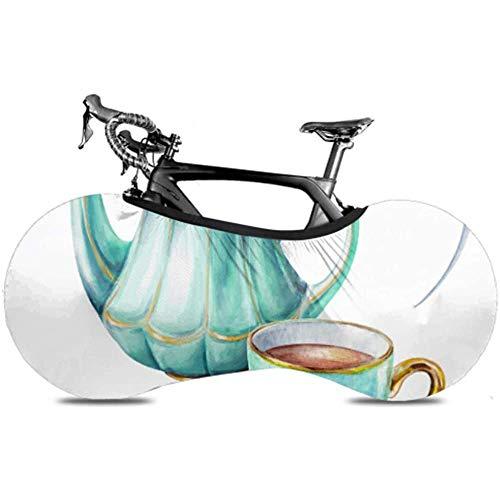 Xiaoyinghua Cubierta de Rueda de Bicicleta, Bolsa de Almacenamiento de Bicicleta Antipolvo, Cuchara de Tetera de Taza