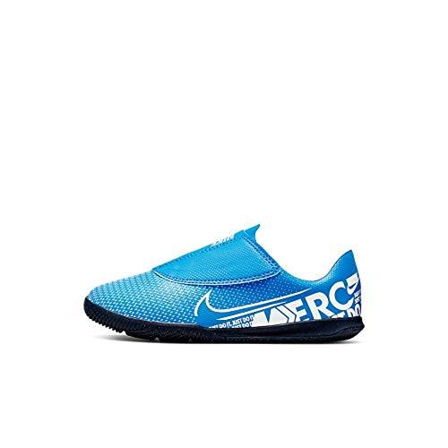 Nike Jr. Mercurial Vapor 13 Club IC, Botas de fútbol Unisex niño, Multicolor (Blue Hero/White/Obsidian 414), 28 EU