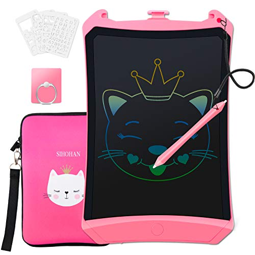 Inncen LCD Writing Tablet Toddler Toy Doodle Board,8.5in Colorful Drawing Pad,Kid Drawing Tablet Toy with Bag Case Stylus & Lanyard, Erasable Reusable E-writing Tablets Gift Toy for Girls 2-9 Year Old