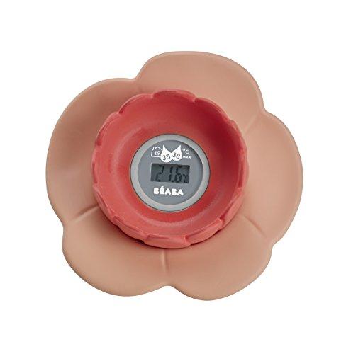 Béaba Lotus - Termómetro de baño digital, Color Rosa