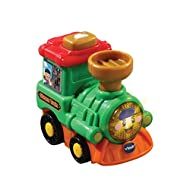 TOOT-TOOT STEAM TRAIN: Cute Steam Train will entertain your child with the light up face button that triggers fun music, realistic sound effects and songs. Babies love to 'BROOM BROOM' with Toot-Toot Drivers! BABY INTERACTIVE TOY: Press the feature b...