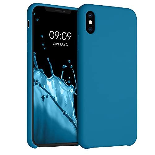 kwmobile Cover Compatibile con Apple iPhone XS Max - Cover Custodia in Silicone TPU - Back Case Protezione Cellulare Blu Indaco