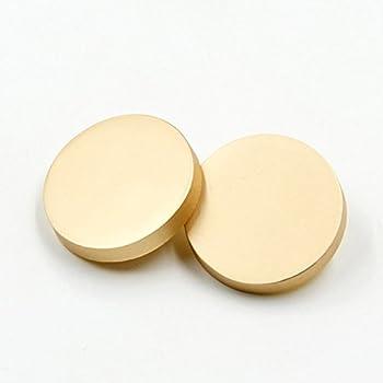 10PCS Metal Flat Button Women Suit Woolen Coat Button Male Jacket Button Shirt Suit Trousers Button Round Shaped Sewing Button  25mm Matte Gold