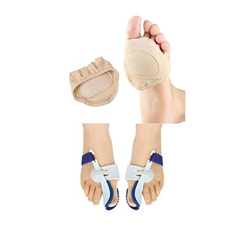 Hellery Vorfuß Mittelfußkissen + Orthopädische Zehenschiene Mit Ballenschiene Für Große Zehen