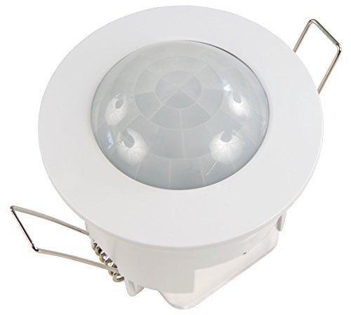 McShine - IR Infrarot Bewegungsmelder | LX-630 | 360°, 230V / 1.200W, Unterputz, LED geeignet | für den Einbau | perfekt für die Schaltung von LED-Leuchten | z. B. für die Ausleuchtung von Einfahrten, Eingängen uvam.