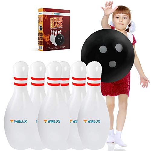 Twirlux Inflatable Bowling Set for Kids Indoor Games or Outdoor Games for Kids Hilariously Fun Giant Yard Games for Kids and Adults Fun Sports Games Outside Games or Indoor Games for Kids